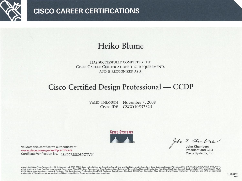 ccdp blume cisco ccna certified tugas profesionalisme etika tsi heiko consultant 2005 professional sertifikasi ag associate